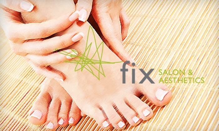 Fix Salon & Aesthetics - Central Business District: $20 for a Mani-Pedi or 35-minute Facial at Fix Salon & Aesthetics (up to $45 Value)