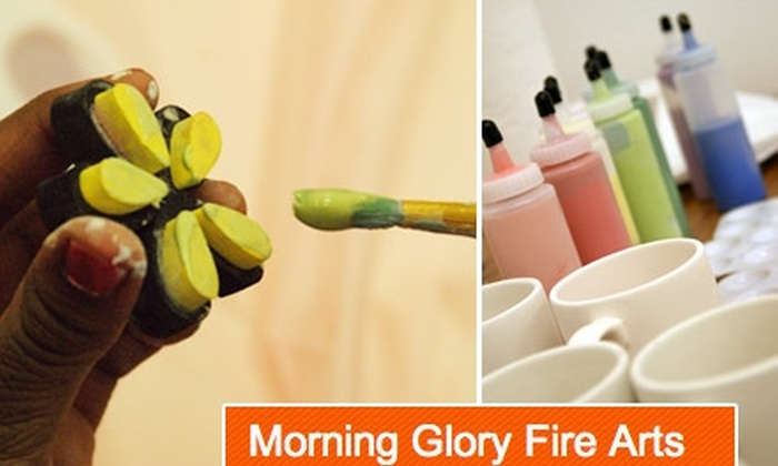 Morning Glory Fire Arts - Avondale: $30 for a Three-Piece Take-Home Pottery-Painting Kit from Morning Glory Fire Arts ($75 Value)
