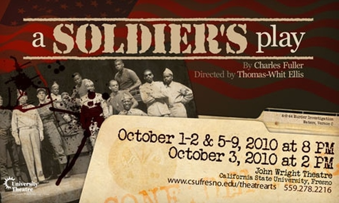 """University Theatre - Fowler: $15 for Two Tickets to """"A Soldier's Play"""" at University Theatre (Up to $34 Value)"""