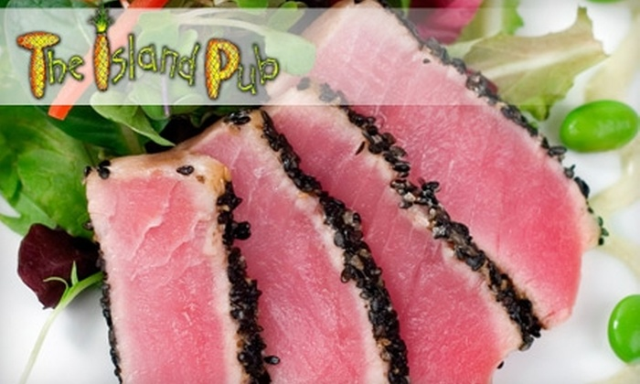 Island Pub - Park Shore: $10 for $20 Worth of Caribbean Fare and Drinks at The Island Pub