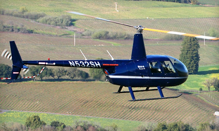 Sonoma Helicopter and Mazzocco Winery - Multiple Locations: $260 for a Wine-Country Helicopter Tour and Wine Tasting for Two from Sonoma Helicopter ($570 Value)