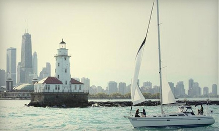 Chicago Sailboat Charters - Lakeview: Semi-Private Weekday or Weekend Sailing for Two from Chicago Sailboat Charters. Two Options Available.