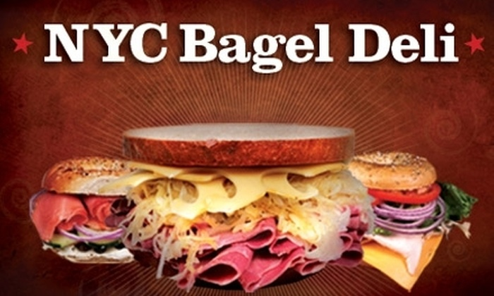 NYC Bagel Deli - Multiple Locations: $3 for $10 Worth of Bagel Schmears, Sandwiches, and More at NYC Bagel Deli