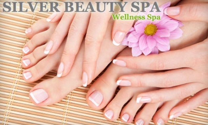 Silver Beauty Spa - Downtown: $49 for Spa Mani-Pedi at Silver Beauty Spa ($105 Value)