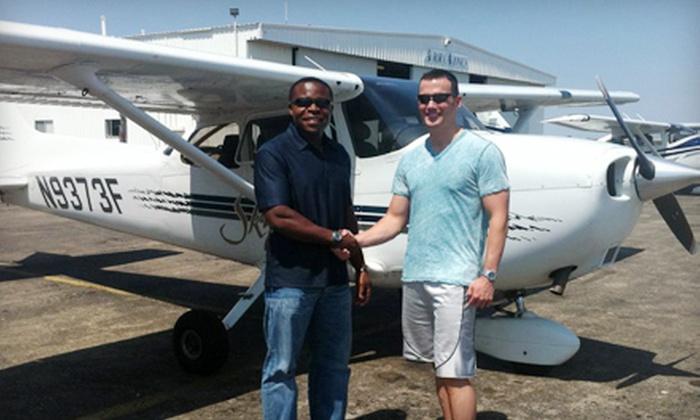 Genesis Flight Academy - Georgetown: 90-Minute Flight Lesson or Six-Week Course from Genesis Flight Academy in Georgetown (Up to 52% Off)
