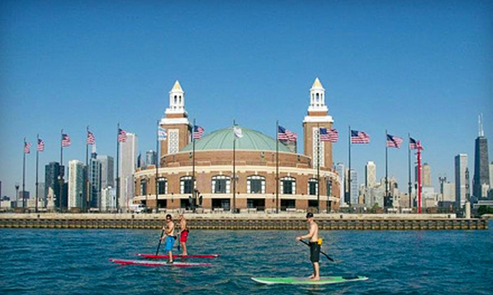 Chicago SUP - North Avenue Beach: Standup Paddleboarding for One or Two from Chicago SUP (50% Off)