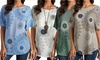 Blouse imprimée pour femme, différentes tailles disponibles