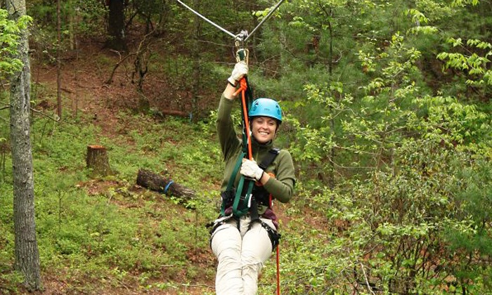 ZipNTime - Lakeshore: Zipline Tour for One or Two at ZipNTime (Up to 33% Off)