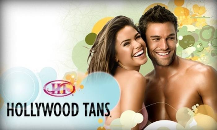 Hollywood Tans - Campbell: $25 for a Month of Unlimited Tanning or Three Spray Tans at Hollywood Tans (Up to $95 Value)