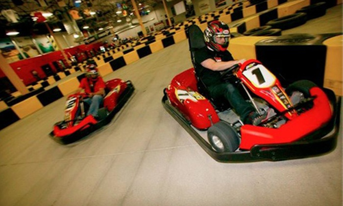 Pole Position Raceway - Jersey City: $29 for Two Indoor 15-Lap Kart Races at Pole Position Raceway in Jersey City (Up to $60 Value)
