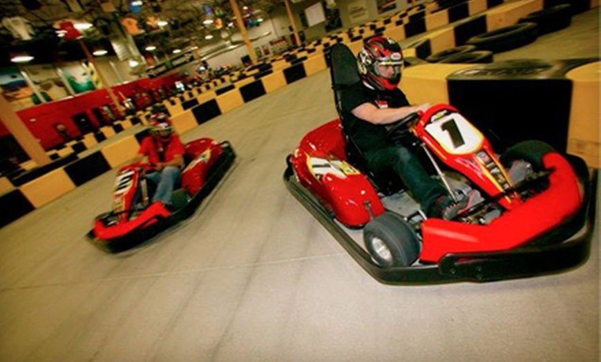$29 for Two Indoor 15-Lap Kart Races at Pole Position Raceway in Jersey City (Up to $60 Value)