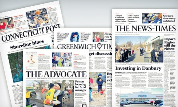 Connecticut Post, The News-Times, The Advocate, or Greenwich Time: Newspaper Subscriptions from Hearst Media Services of Connecticut (Up to 75% Off). Three Options Available.