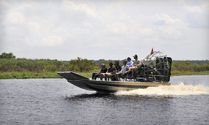 Airboat and Gator Charters - Deleon Springs: 90-Minute Airboat Tour for One, Two, or Four from Airboat and Gator Charters in Deleon Springs (Up to 58% Off)