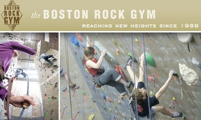 Boston Rock Gym - Woburn: $40 Introductory Rock-Climbing Class and One Month of Climbing at Boston Rock Gym