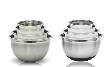 Stainless-Steel German Mixing-Bowl Set (4-Piece)