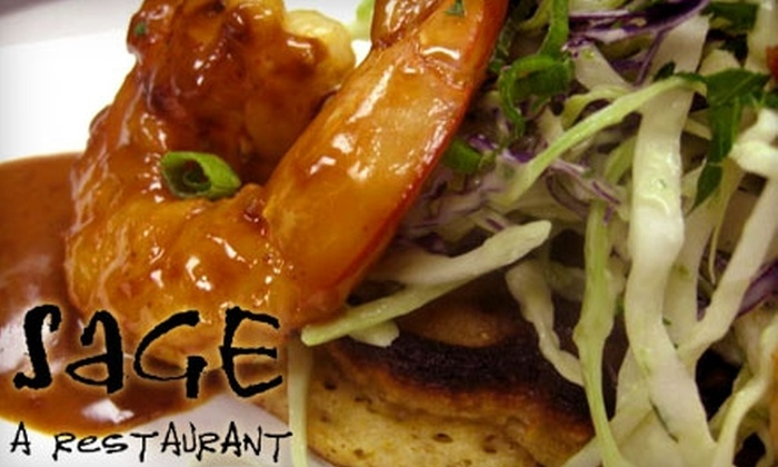 Sage, A Restaurant - Tallahassee: Seasonal Cuisine at Sage, A Restaurant. Choose Between Two Options.