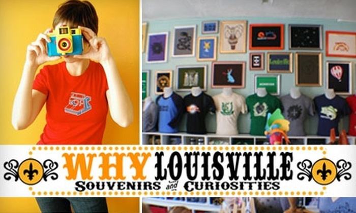WHY Louisville - Deer Park: $10 for $20 Worth of Locally Designed T-Shirts, Accessories, Gifts, and More at WHY Louisville