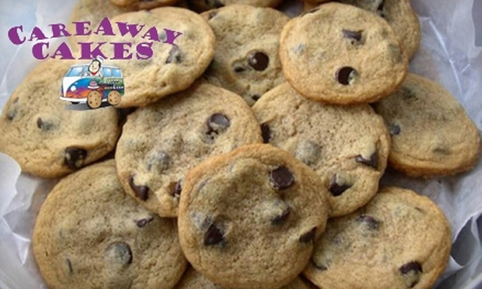 CareAway Cakes - Athens, GA: $10 for a Dozen Fresh-Baked Chocolate-Chip Cookies (Up to $20 Value) or $25 for a Gift Basket with Two Dozen Cookies and Balloon (Up to $50 Value) from CareAway Cakes
