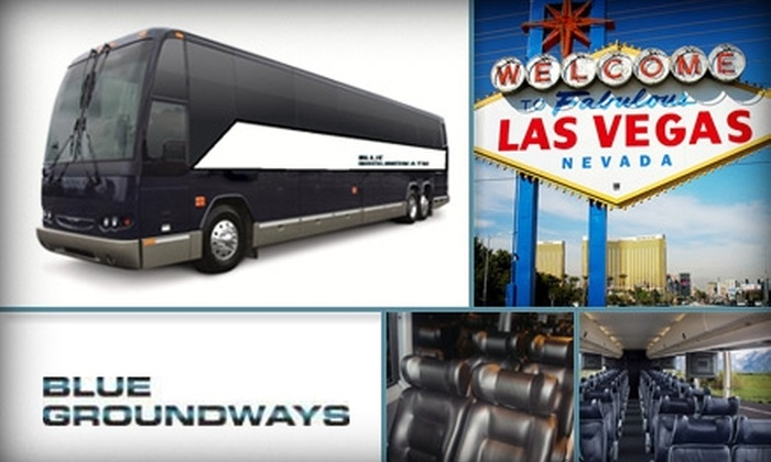 Blue Groundways - Orange County: $49 for Round-Trip Luxury Bus Trip from LA, OC, Inland LA to Las Vegas from Blue Groundways