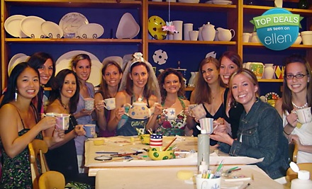 Pottery-Painting Experience for 2 (up to a $50 total value) - Color Me Mine in Tampa