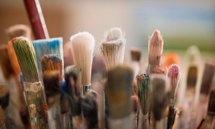 Art of the Soul - Mozel Sander Projects,Broad Ripple Village: One Expressive-Painting Class on Canvas or Mixed Media for One or Two People at Art of the Soul (Up to 57% Off)
