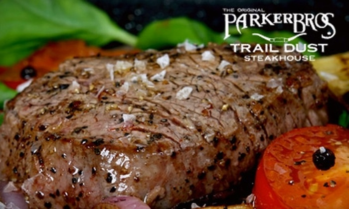Parker Brothers Traildust Steakhouse - Little Elm: $20 for $40 of Steaks and American Fare at Parker Brothers Traildust Steakhouse
