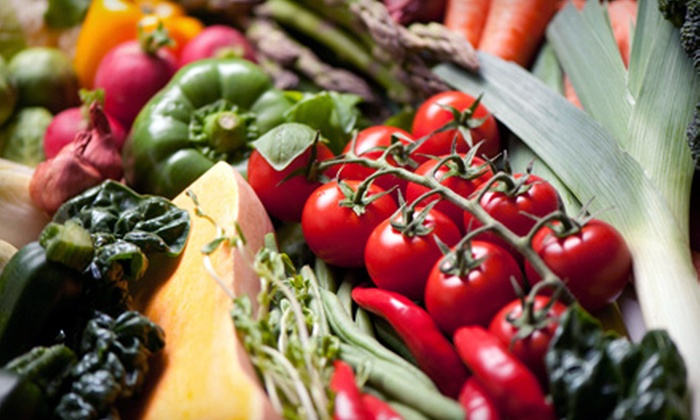Ms V's Organics - Multiple Locations: Market Produce or Four Weeks of Organic Vegetable Boxes at Ms V's Organics (Up to 52% Off). Three Options Available.