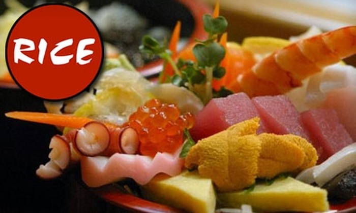 RICE - People's Freeway: $15 for $35 Worth of Asian Fare at RICE Asian Fusion Cuisine and Sushi Bar