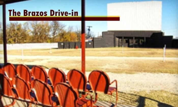The Brazos Drive-in Theatre - Granbury: $9 for One Double-Feature Admission to The Brazos Drive-In Theatre in Granbury (Up to $18 Value)
