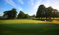 18 Holes of Golf and a Titleist Golf Sleeve for Two or Four at Mottram Hall