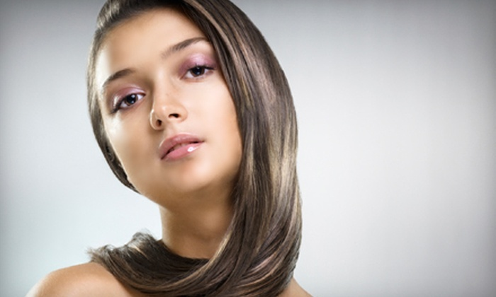 Curl Up and Dye Hair Salon - Maryville: Haircut with Optional Partial Highlights, or Keratin Treatment at Curl Up and Dye Hair Salon in Maryville (Up to 72% Off)
