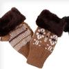 $12 for Ladies' Fingerless Snowflake Gloves