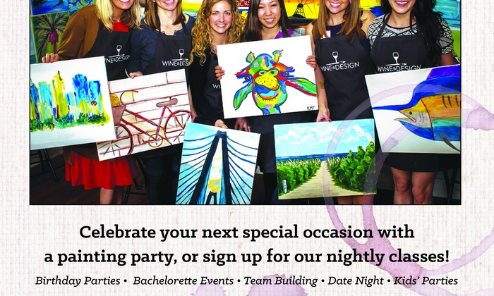 Wine & Design Las Vegas - Las Vegas: Up to 35% Off Painting Class for One or Two  at Wine & Design Las Vegas