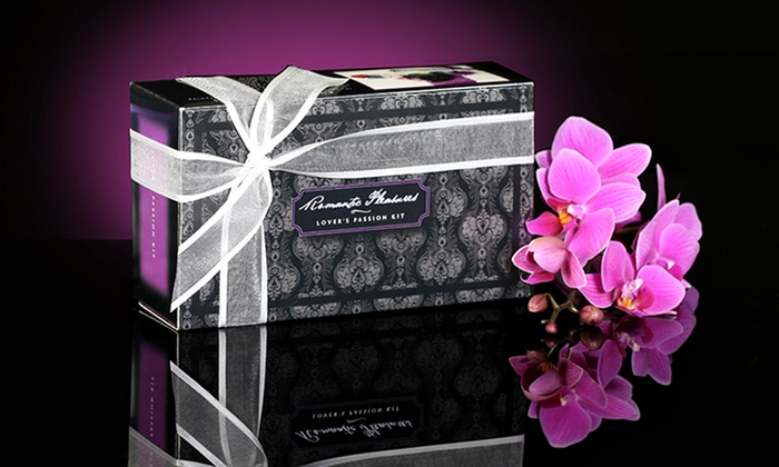 New Indulgence Romantic Pleasures Kit: New Indulgence Romantic Pleasures Lover's Passion Kit with Massage Oil, Feather Tickler, Flameless Candle, and Eye Mask