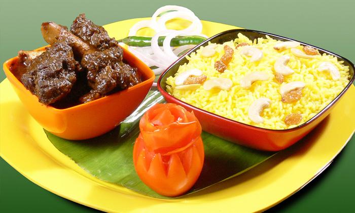 Choice of veg non veg lunch or dinner for 2 at koshe for Authentic bengali cuisine