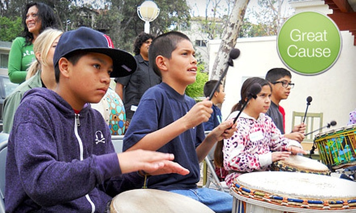 Free Arts for Abused Children - Marina Del Ray: $6 Donation to Help Free Arts for Abused Children Sponsor Two Children in a Drum Circle Event