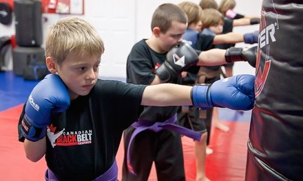 One Month of Unlimited Martial-Arts Classes for Adults or Kids at Canadian Black Belt Centres (55% Off)