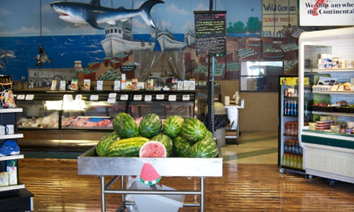 Wild Ocean Seafood Market - Multiple Locations: $7 for $14 Worth of Seafood, Meat, and Groceries at Wild Ocean Seafood Market