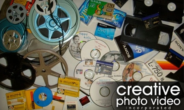 Creative Photo Video, Inc. - Central Oklahoma City: $20 for $40 Worth of Home Movies, Tapes, Slides, Photos Converted to DVD, and More