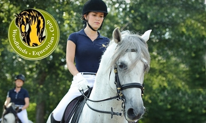 Woodlands Equestrian Club - Houston: $30 for a One-Hour Private Horseback-Riding Lesson at Woodlands Equestrian Club in Tomball ($60 Value)