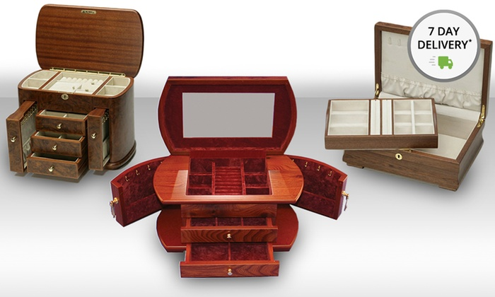 Wooden Jewelry and Watch Boxes: Wooden Jewelry and Watch Boxes. Five Options from $99.99–$199.99. Free Returns.