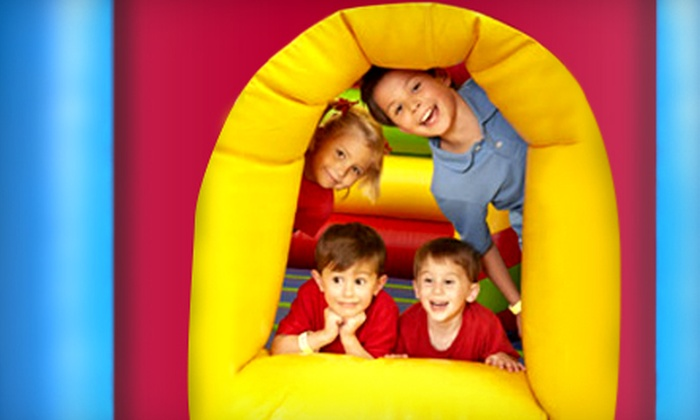 Monkey Joe's - Northwest Raleigh: $6 for an Inflatable Play Outing with Pizza and Small Soft Drink at Monkey Joe's (Up to $13.18 Value)