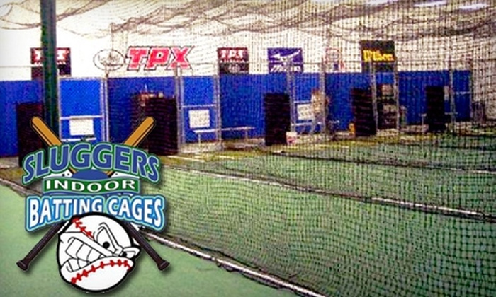 Sluggers Indoor Batting Cages - Suffolk: $15 for 30 Tokens (450 Pitches) at Sluggers Indoor Batting Cages ($39 Value)