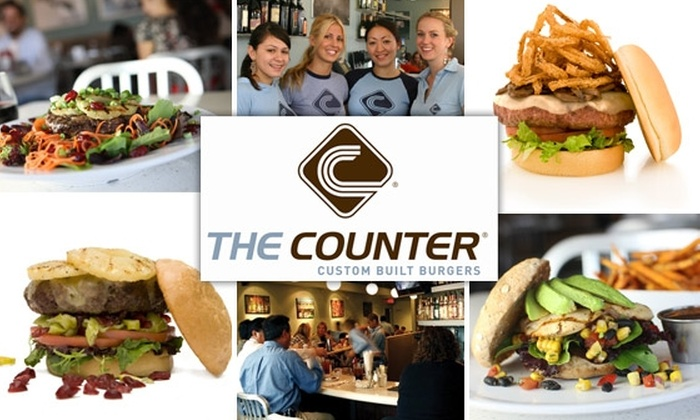 The Counter Seattle - Multiple Locations: $15 for $30 Worth of Delicious Custom Burgers at The Counter