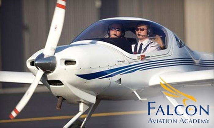 Falcon Aviation Academy - Multiple Locations: $74 for One-Hour Flying Lesson at Falcon Aviation Academy ($149 Value)