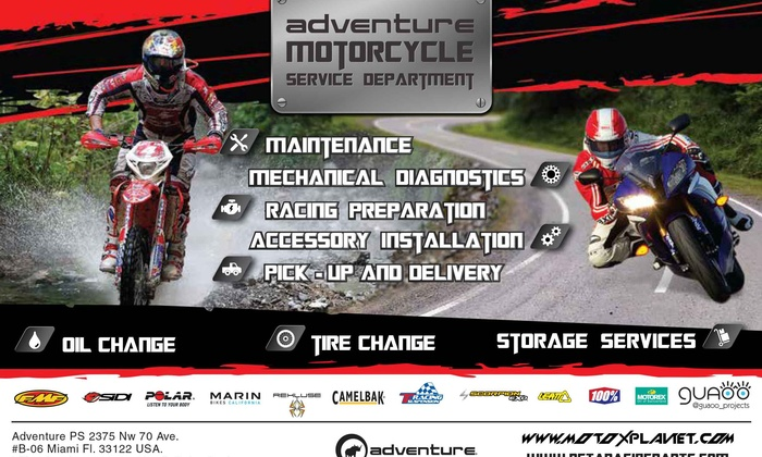 Adventure Power Sports - Miami: Up to 55% Off Motorcycle Oil Change at Adventure Power Sports
