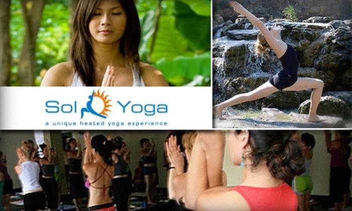 Sol Yoga - La Jolla Village: $49 for 10 Hot Yoga Classes at Sol Yoga ($139 Value)
