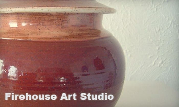 Firehouse Gallery - East Meadowbrook: $30 for Two One-Hour Pottery and Painting Classes at Firehouse Gallery