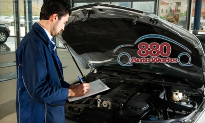 880 Auto Works - San Carlos: $11 for an Oil Change and 27-Point Inspection at 880 Auto Works ($22.45 Value)