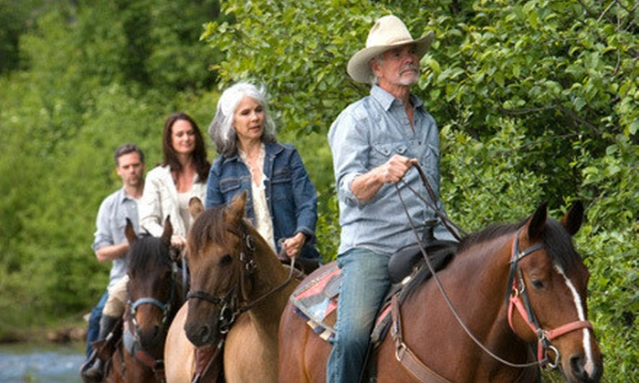 Sleepy Sheep Ranch - Whitewright: $69 for a Three-Hour Trail Ride with Brisket or Baby-Back-Ribs Dinner from Sleepy Sheep Ranch ($140 Value)